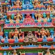 Sculptures on Hindu temple tower — Stock Photo #53989317