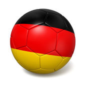 Soccer footbal ball with Germany flag — Stock Photo