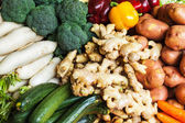 Vegetables in Asian market close up — Stock Photo