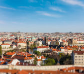 Aerial view of Praha from Prague Castle — Stockfoto