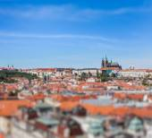 View of Stare Mesto Old City, St. Vitus Cathedral — Stockfoto