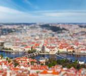 View of Charles Bridge over Vltava river, Prague — Foto Stock