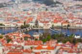 View of Charles Bridge over Vltava river, Prague — Photo