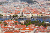 View of Charles Bridge over Vltava river, Prague — Stockfoto
