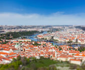 View of Charles Bridge over Vltava river, Prague — Foto de Stock