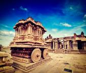 Stone chariot in Vittala temple,  Hampi — Stock Photo