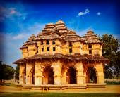 Lotus Mahal palace ruines in Hampi — Stock Photo