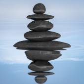 Zen stones balance concept — Stock Photo