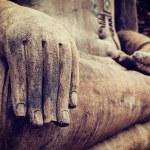 Buddha socha ručně zavřít detail — Stock fotografie #55532503