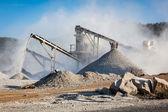 Industrial crusher - rock stone crushing machine — Stock Photo