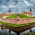 Nesvizh Castle - medieval castle in Belarus — Stock Photo #55625383