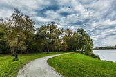 Path in autumn park — Stock Photo