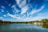 Kamsamolskaje Voziera lake, Minsk, Belarus — Stockfoto