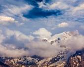Snowcapped summit top of mountain in Himalayas — Stock Photo