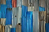 Corrugated iron fence background — Foto Stock