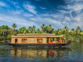 Houseboat on Kerala backwaters, India — Stock Photo