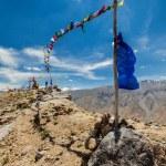 Buddhist prayer flags lungta in Spiti valley — Stock Photo #55906079