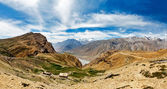 Panorama of Spiti valley in Himalayas — Stock Photo