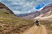 Bike on mountain road in Himalayas — Stock Photo