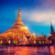 Shwedagon pagoda in the evening — Stock Photo #57403267