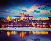 View of Prague in twilight — Stock Photo