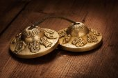 Tibetan Buddhist tingsha cymbals — Foto de Stock