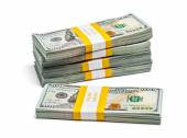 Bundle of 100 US dollars 2013 edition banknotes — Stock Photo