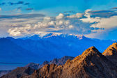 Himalayas mountains on sunset — Stock Photo