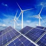 Solar battery panels and wind generators — Stock Photo #61708003