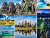 Collage of Cambodia travel images — Stock Photo