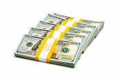 Bundles of 100 US dollars 2013 banknotes bills — Stock fotografie