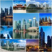Mosaic collage storyboard of Singapore images — Stock Photo