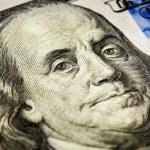 Benjamin Franklin portrait macro shot of 100 bill — Stock Photo #63081249