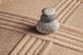 Japanese Zen stone garden — Stock Photo