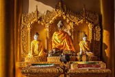 Buddha statues in Shwedagon pagoda — Stock Photo