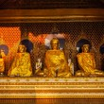Buddha statues in Shwedagon pagoda — Stock Photo #66262267