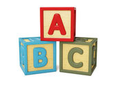 ABC building blocks isolated — Stock Photo
