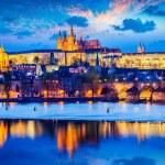 Prague Castle in twilight — Stock Photo #70367823