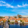 Charles bridge and Prague castle from Old town — Stock Photo #70367869