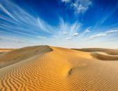 Dunes of Thar Desert, Rajasthan, India — Stock Photo