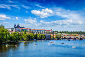View of Vltava river and Gradchany, Prague — ストック写真