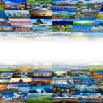 Multimedia background of many images — Stock Photo #70433343