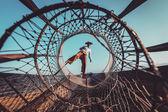 Inle Gölü Myanmar, geleneksel Birmanya balıkçı — Stok fotoğraf