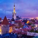 Tallinn Medieval Old Town, Estonia — Stock Photo #75739131