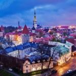 Tallinn Medieval Old Town, Estonia — Stock Photo #75806533