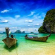 Long tail boats on beach, Thailand — Stock Photo #79133100