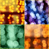 Christmas bokeh set — Stock Photo