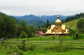 Rural church in the mountains — Stock Photo