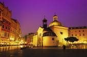 St. Wojciech church at night — Stock Photo