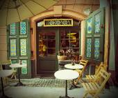 Cafe in the Lviv — Stock Photo